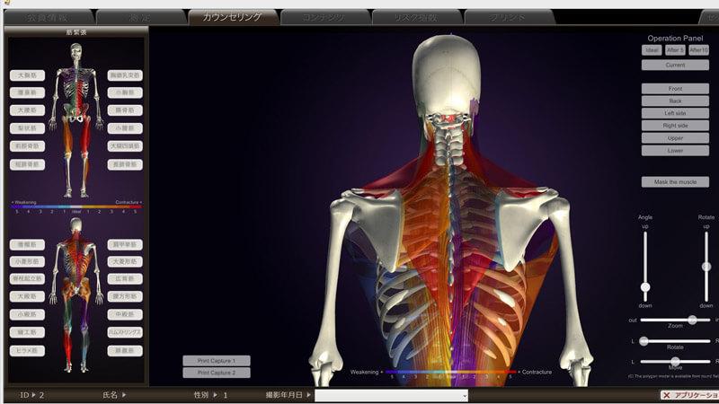 高細密3D C.Gでカラダのゆがみを確認|姿勢分析システム peek a body